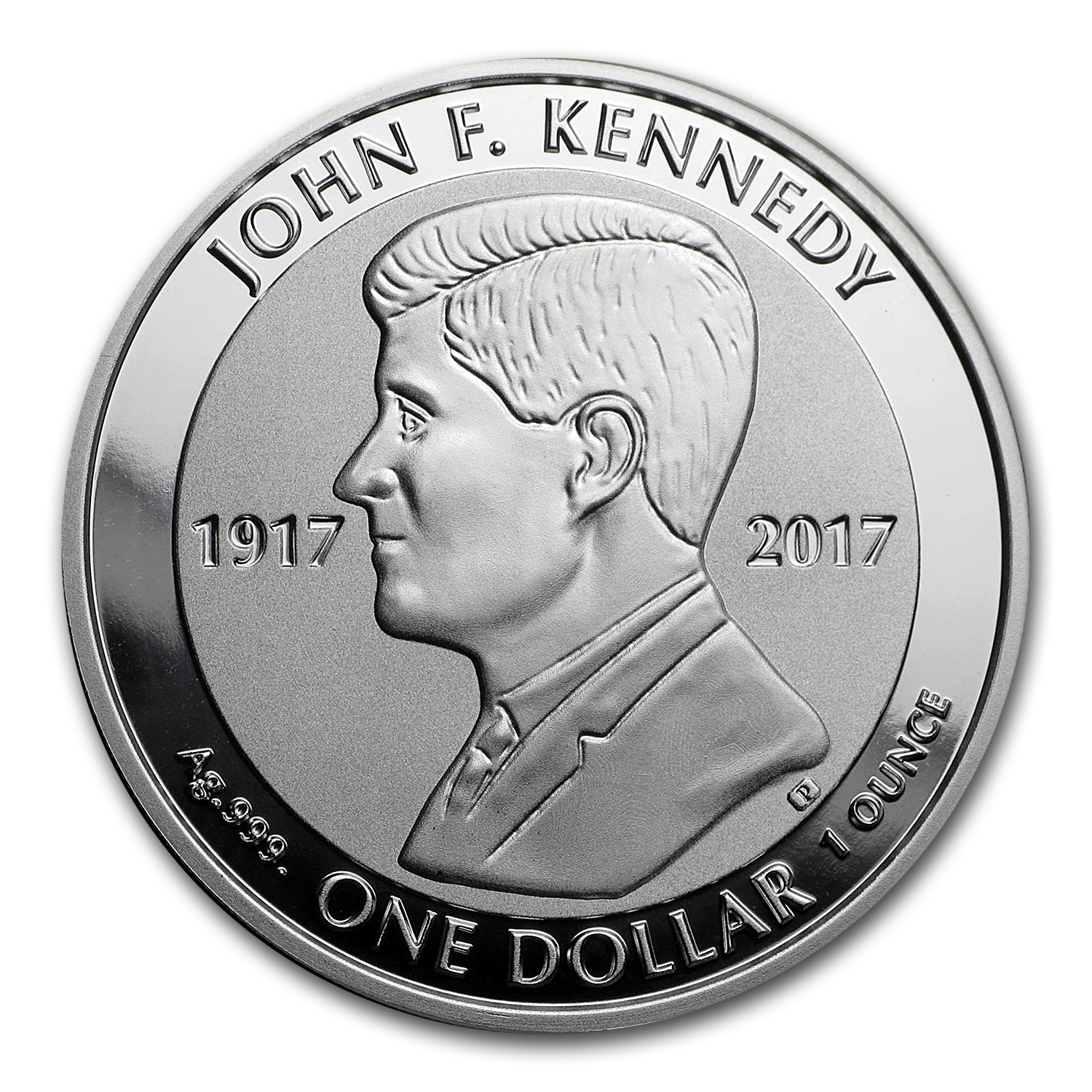 2017 British Virgin Islands 1 oz Silver John F. Kennedy Rev Proof
